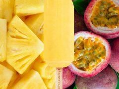 passion fruits pineapple ice cream