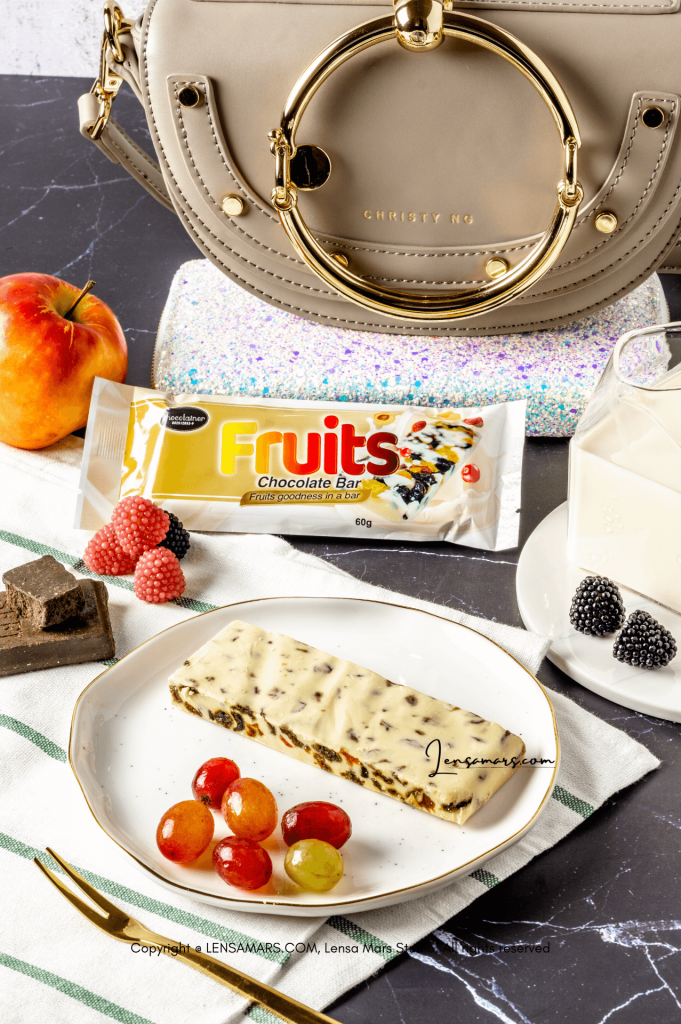 chocolate and fruits food photography