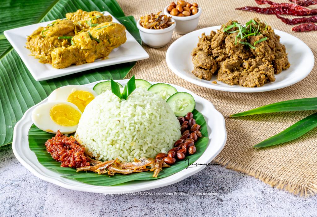 nasi lemak food photography