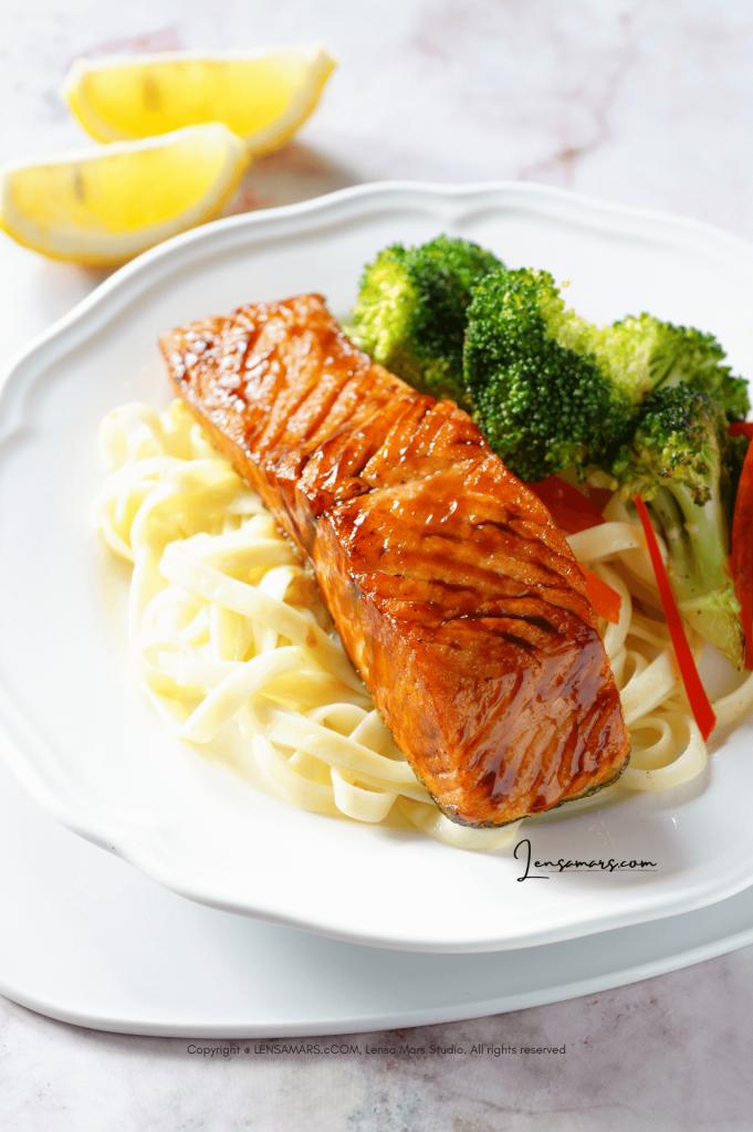 salmon food photography